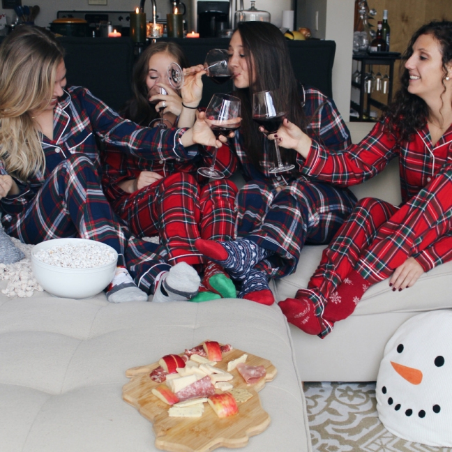 in an ideal world on a dreary midwestern day we girls would sit drink wine enjoy a wisconsin cheese plate and watch netflixin our pjs - What To Buy Your Best Friend For Christmas